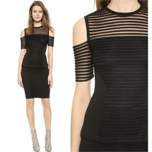 Yigal Azrouel Mesh Cutout Shoulder Top